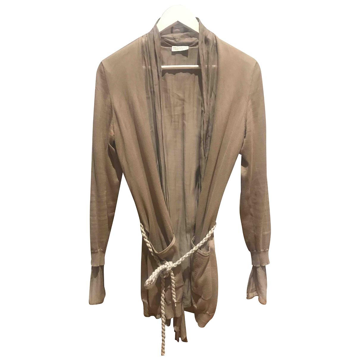 Brunello Cucinelli - Veste   pour femme en cachemire - beige