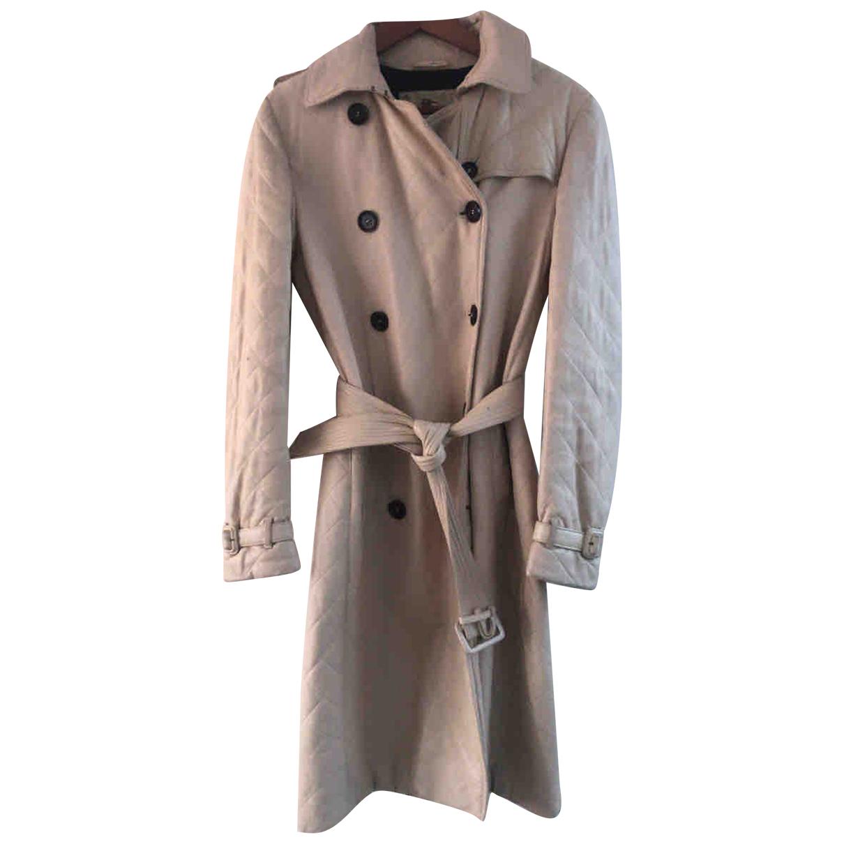 Burberry - Trench   pour femme en cuir - beige