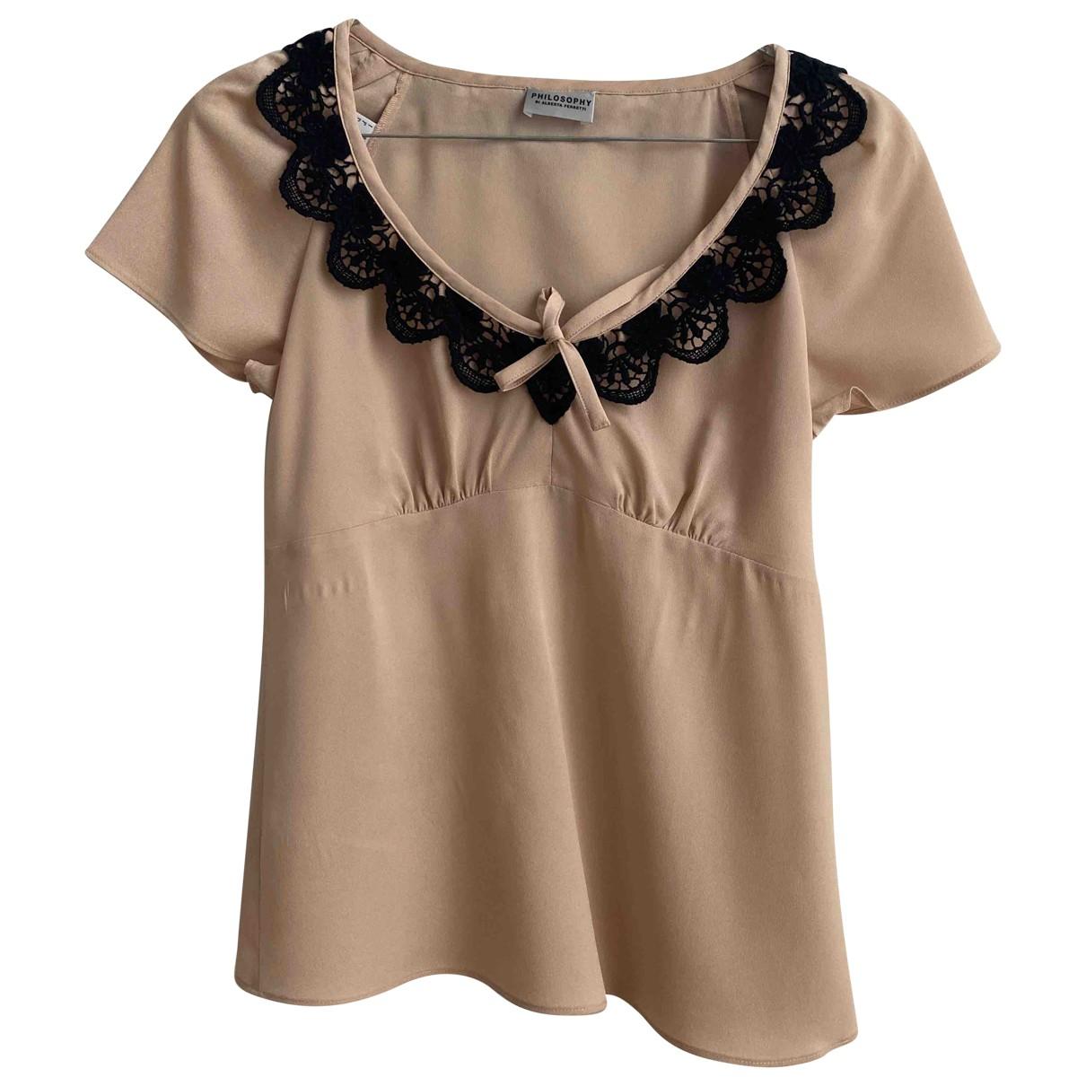 Philosophy Di Alberta Ferretti \N Pink Cotton  top for Women 38 IT