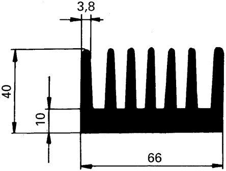 Schaffner Heatsink, Universal Rectangular Alu