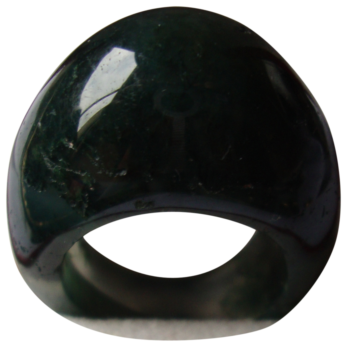 Non Signé / Unsigned Jonc Green Jade ring for Women 50 MM