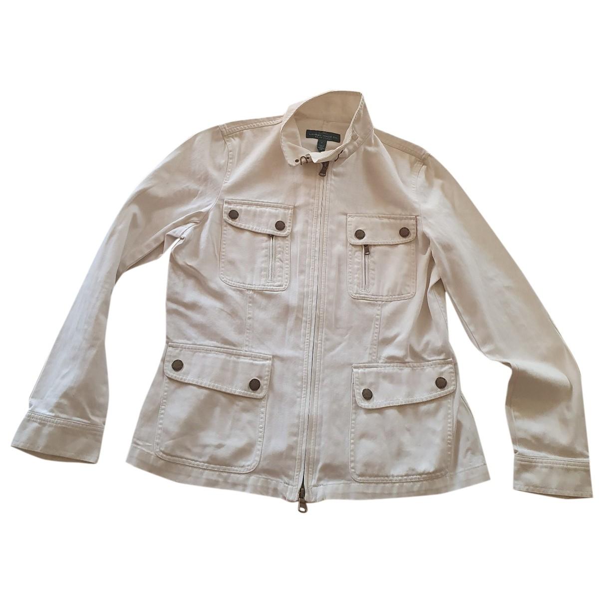 Lauren Ralph Lauren \N White Cotton jacket for Women L International