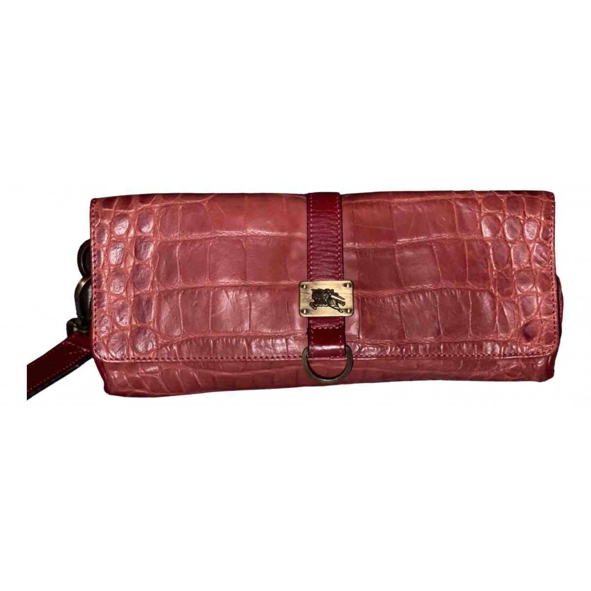 Burberry \N Pink Crocodile Purses, wallet & cases for Women \N