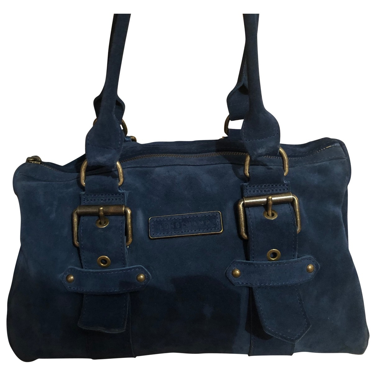 Longchamp Kate Moss Blue Suede handbag for Women \N