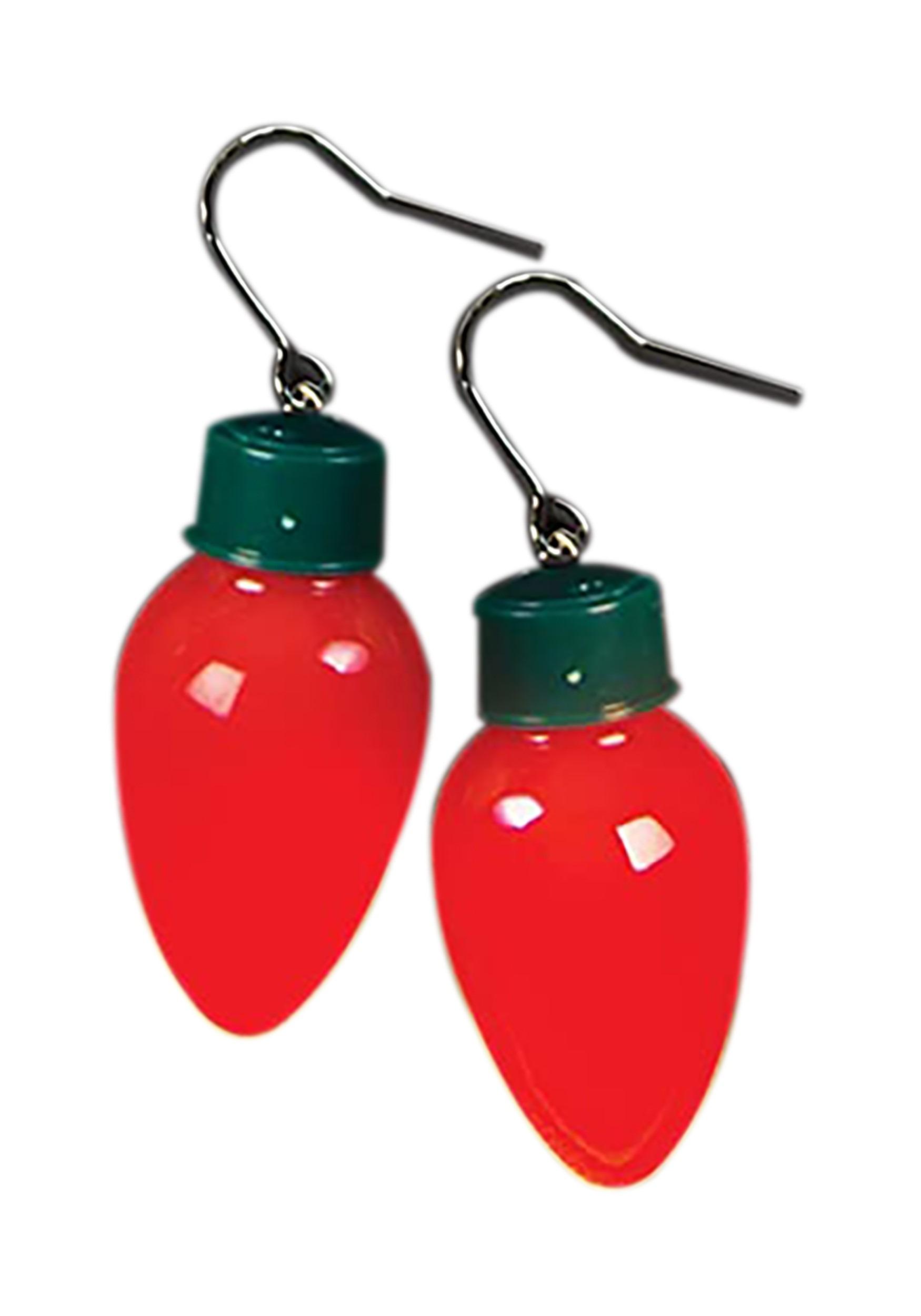 Christmas Bulb Light Up Earrings