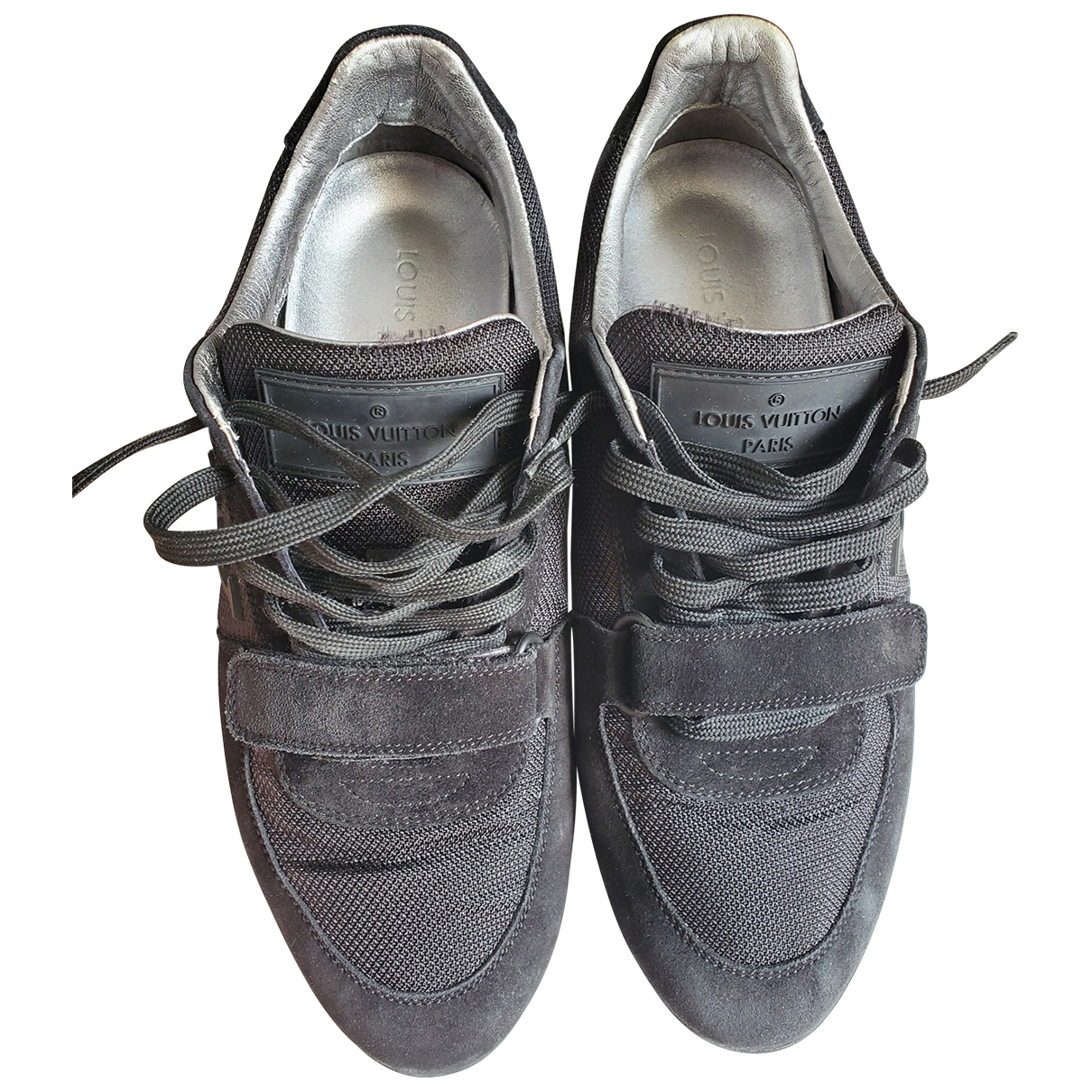 Louis Vuitton \N Black Suede Trainers for Men 41 EU