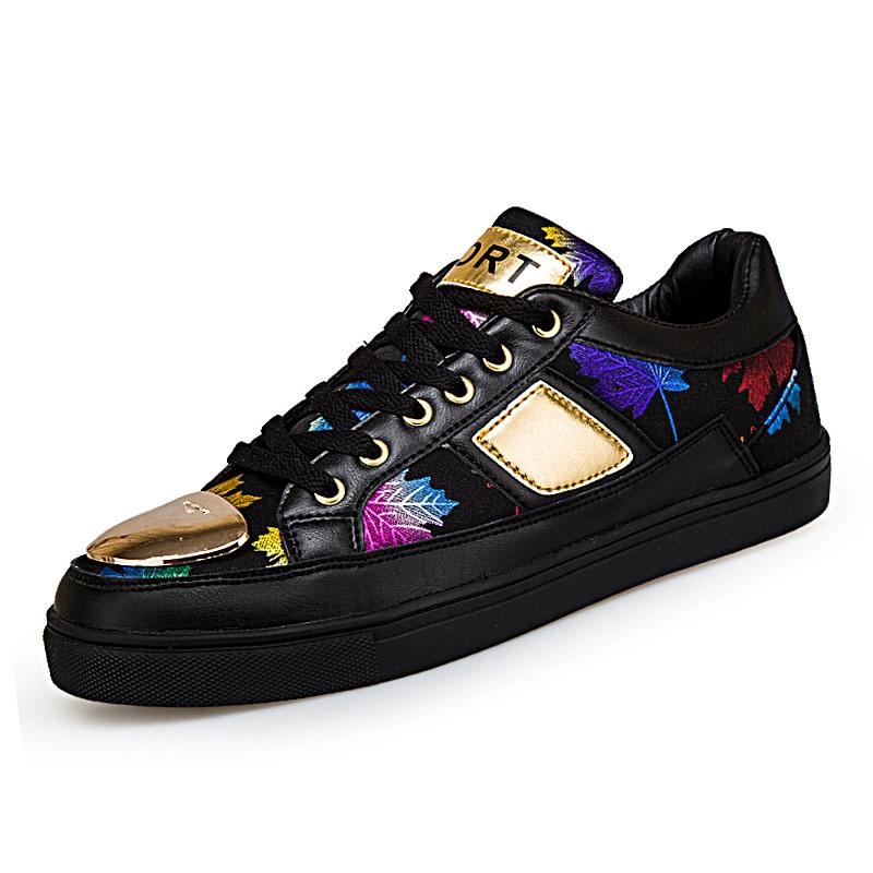 Ericdress Color Block Lace-Up Low-Cut Upper Round Toe Men's Skate Shoes