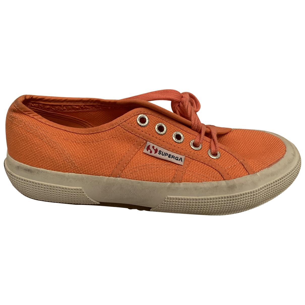 Superga \N Sneakers in  Orange Leinen