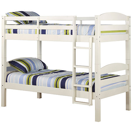 Whatley Twin Bunk Bed, One Size , White