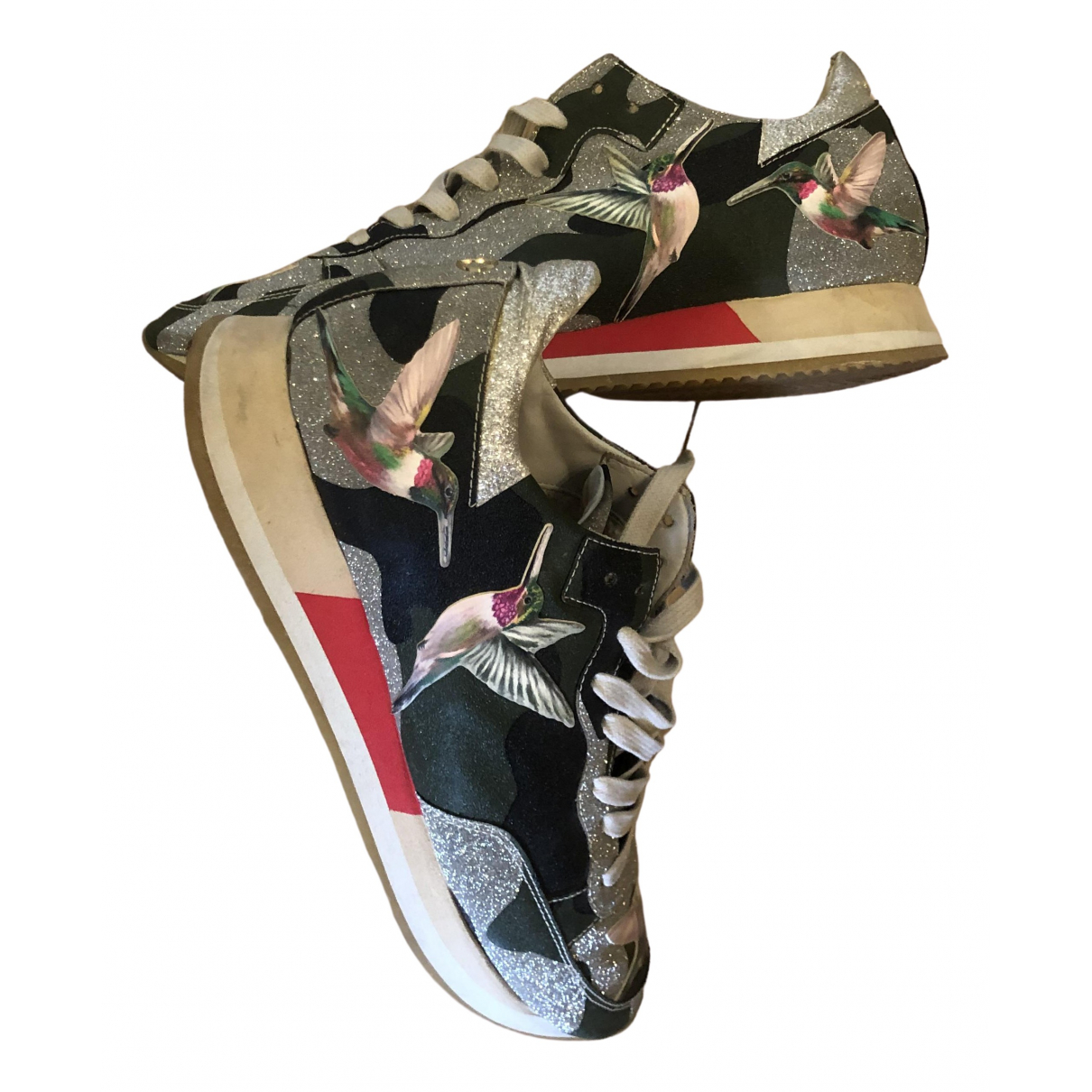 Philippe Model \N Sneakers in  Silber Mit Pailletten