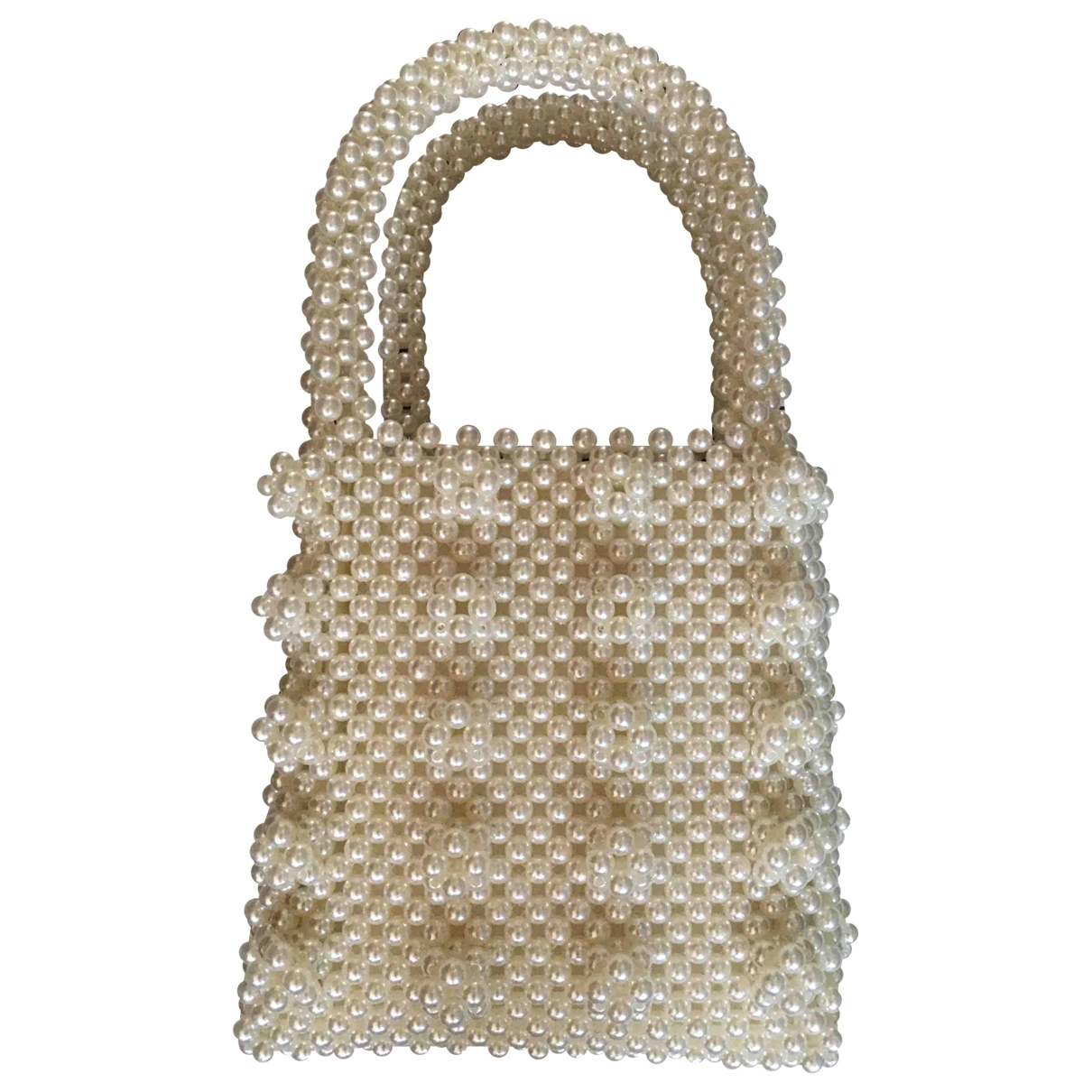 Non Signe / Unsigned \N Handtasche in  Ecru Kunststoff