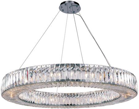 2116G43C/RC 2116 Cuvette Collection Chandelier D:43In H:5.11In Lt:24 Chrome Finish (Royal Cut