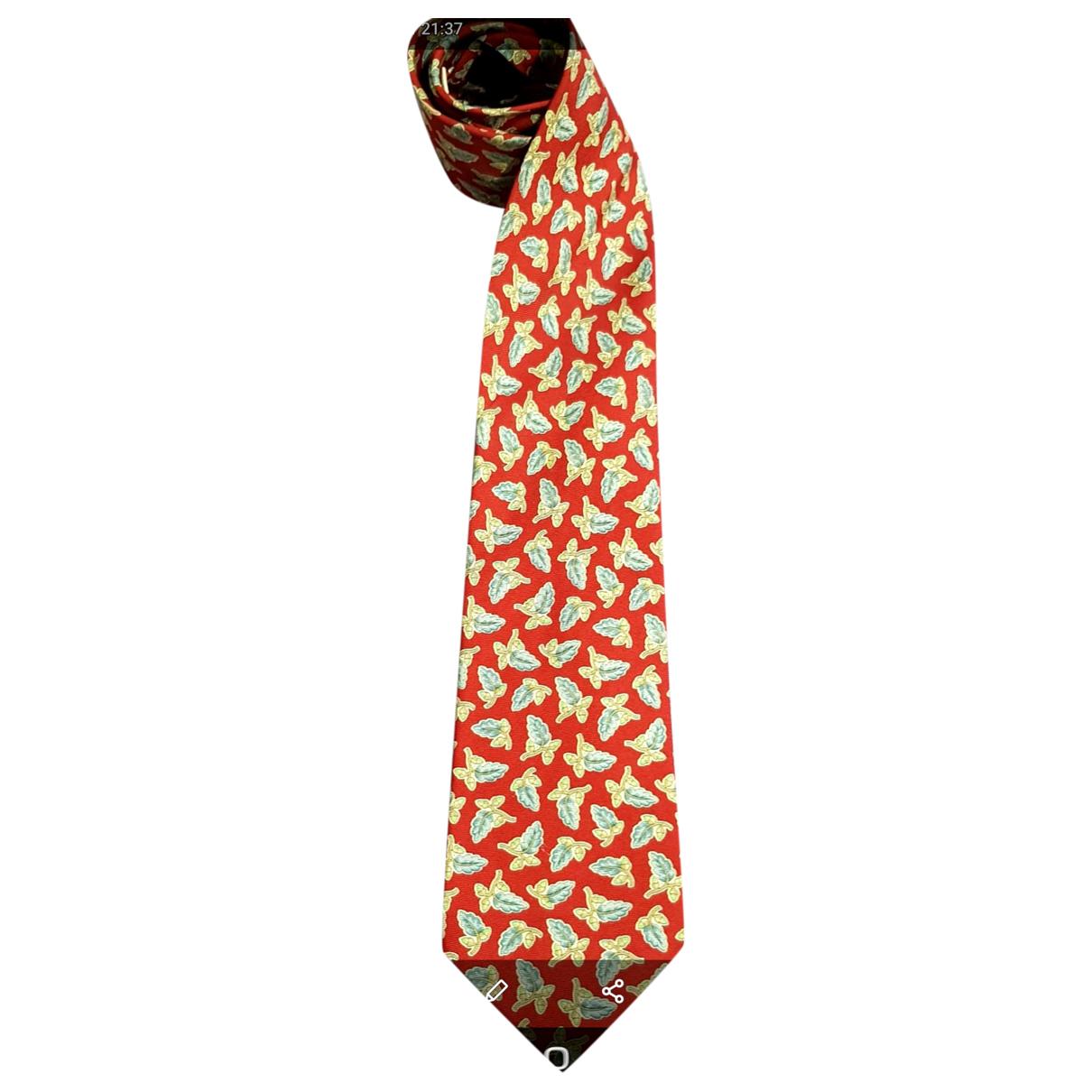 Loewe \N Krawatten in  Rot Seide