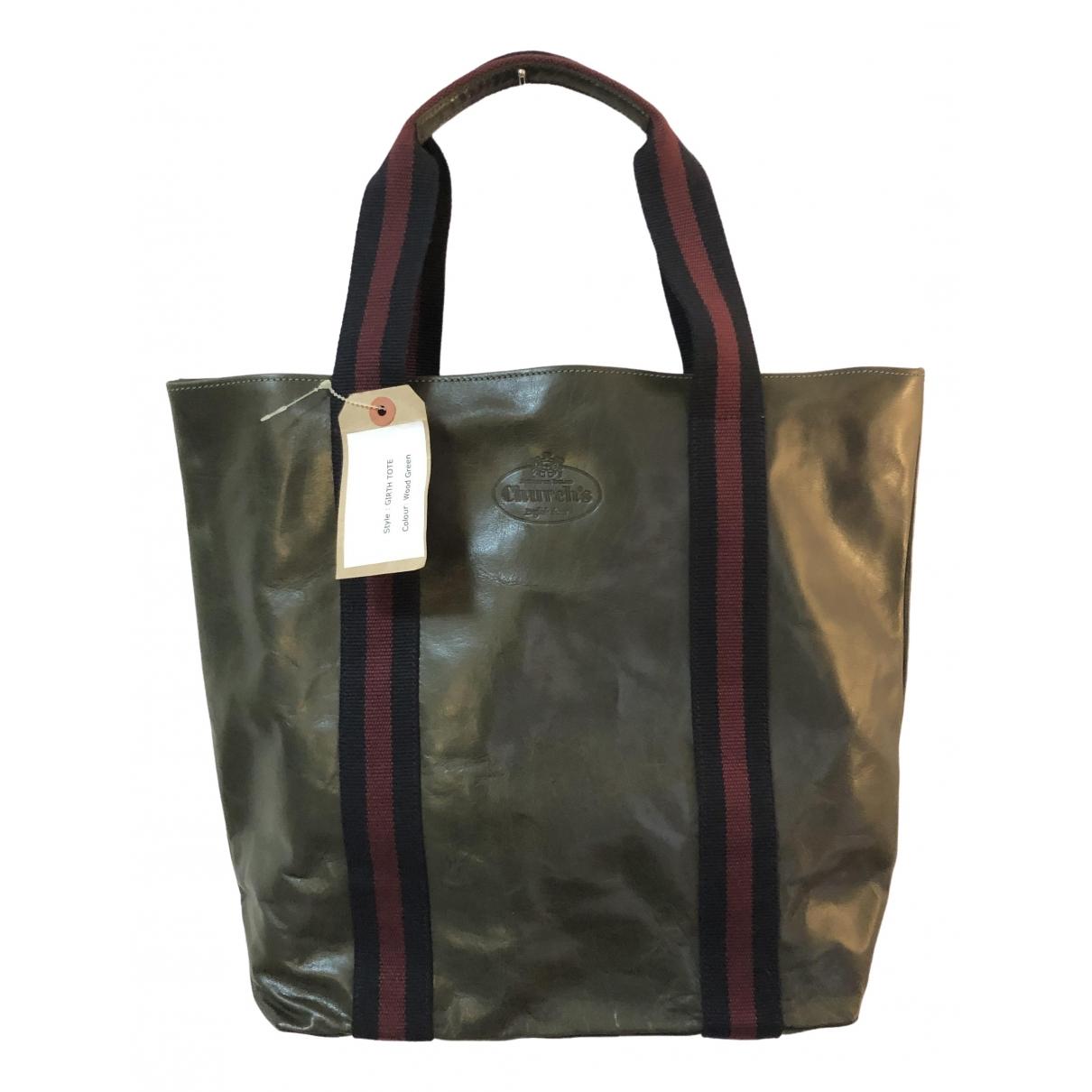 Church's \N Green Leather bag for Men \N
