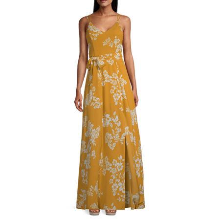 Premier Amour Sleeveless Floral Maxi Dress, 16 , Yellow