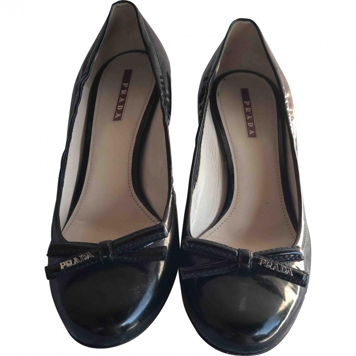 Prada \N Black Patent leather Heels for Women 40 EU