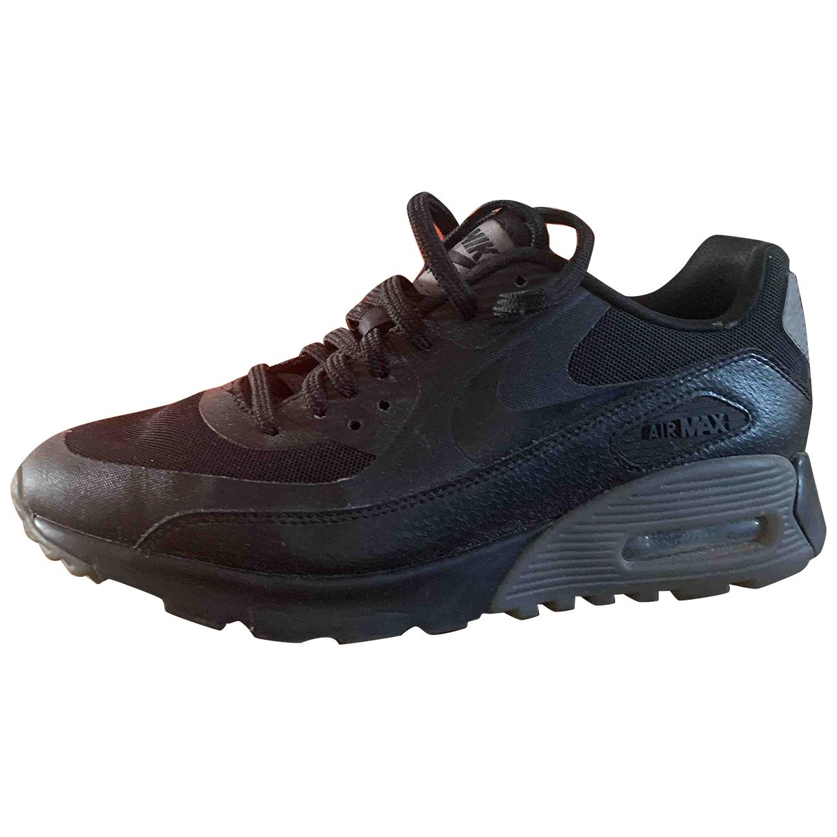 Nike Air Max 90 Black Cloth Trainers for Women 37.5 EU