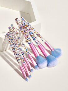 7pcs Soft Makeup Brush With 1pc Storage Bag