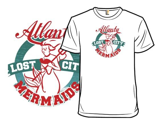 The Lost City Of Atlanta Mermaids T Shirt