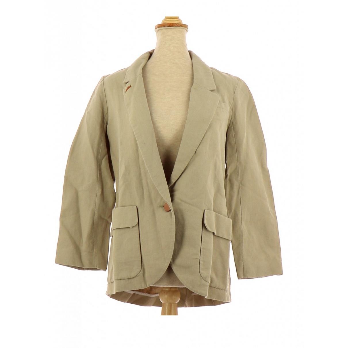 Comptoir Des Cotonniers \N Beige Linen jacket for Women 34 FR
