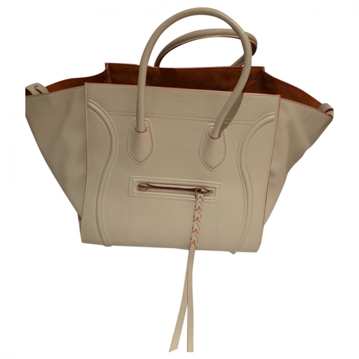 Celine Luggage Phantom Handtasche in  Beige Leder