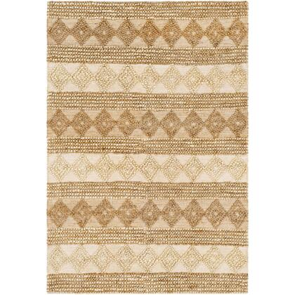 Farmhouse Naturals FNS-2301 6' x 9' Rectangle Cottage Rug in Khaki