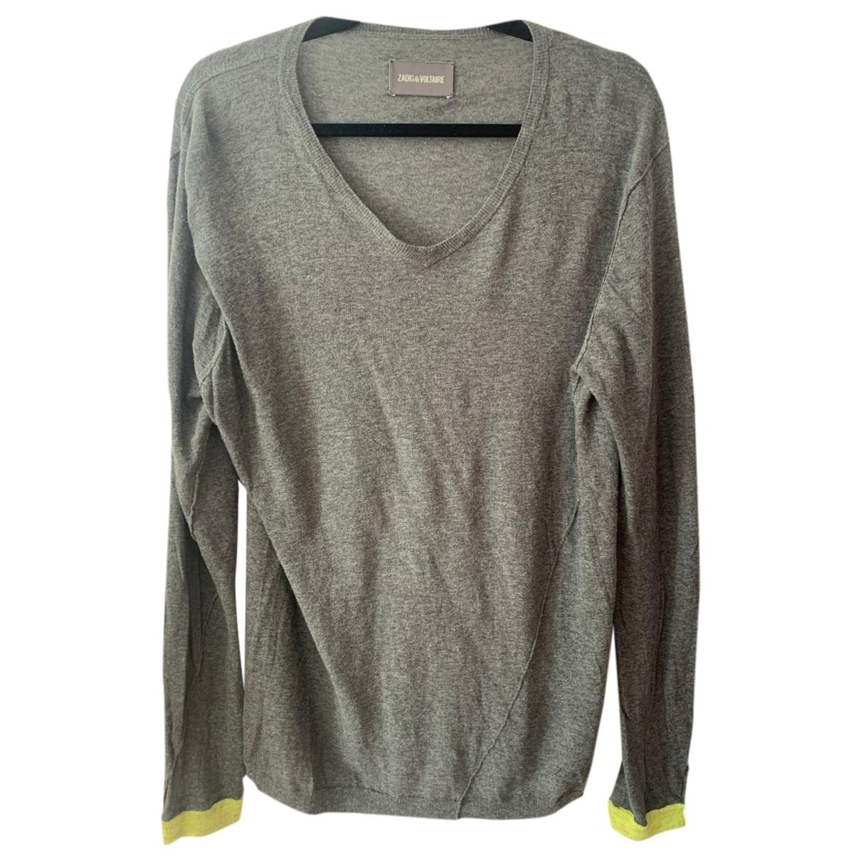 Zadig & Voltaire \N Grey Cotton Knitwear & Sweatshirts for Men L International