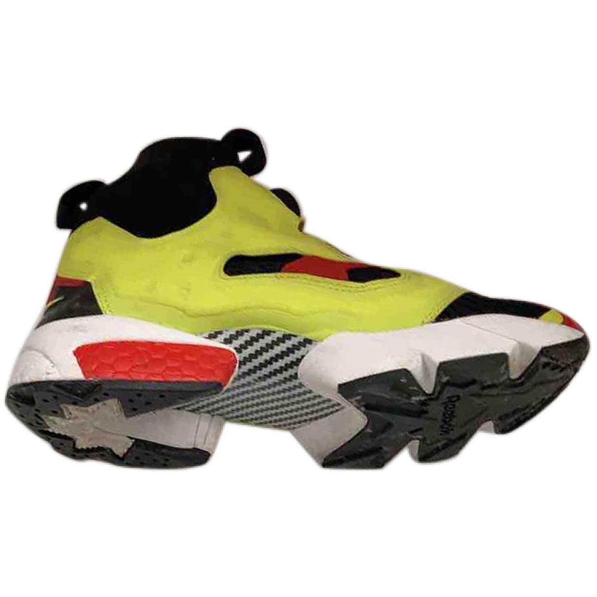 Reebok - Baskets   pour homme en cuir - jaune
