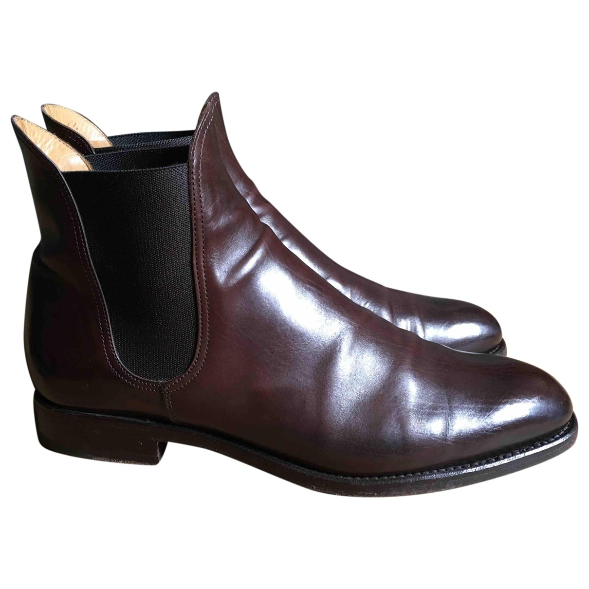 Il Gergo \N Stiefel in  Braun Leder