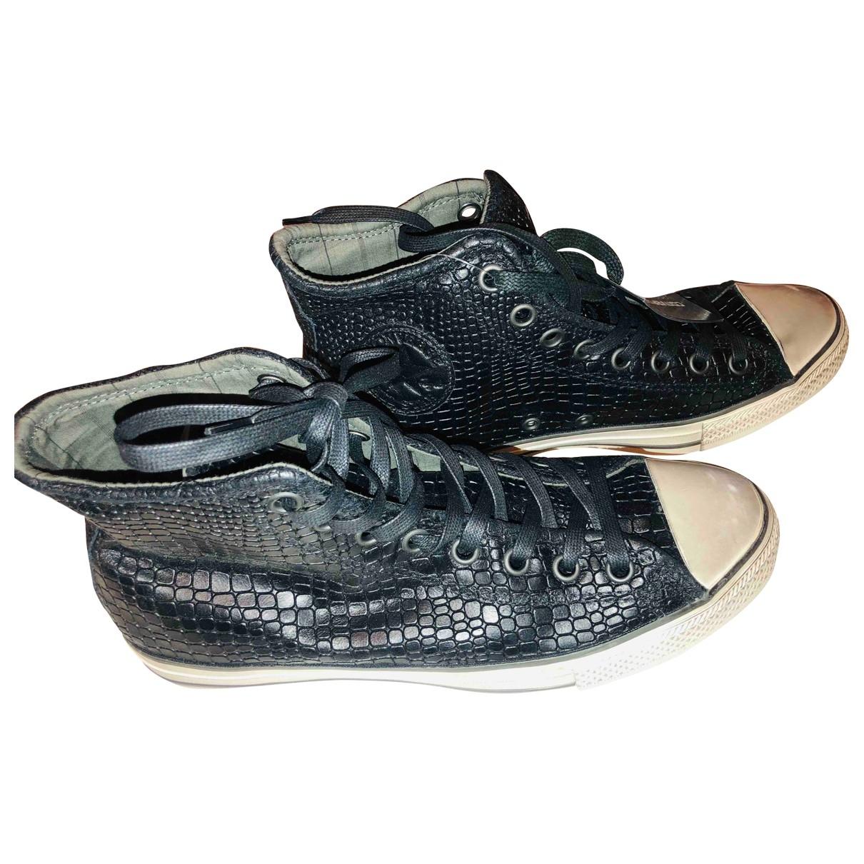 John Varvatos \N Sneakers in  Schwarz Leder