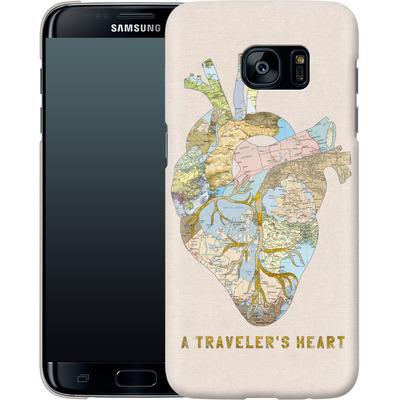 Samsung Galaxy S7 Edge Smartphone Huelle - A Travelers Heart von Bianca Green
