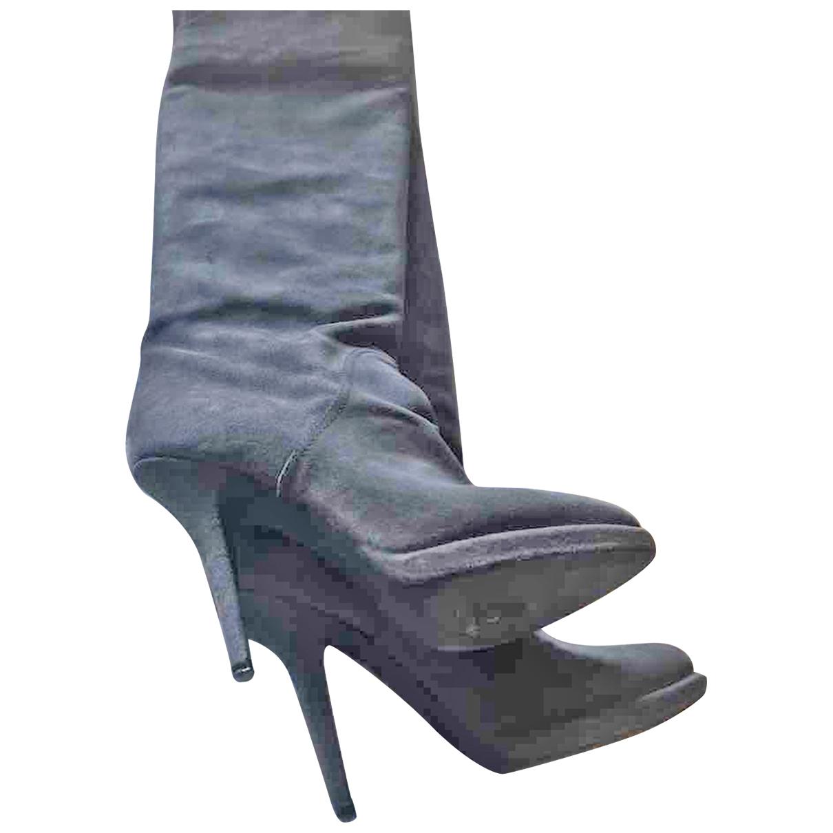 Givenchy \N Stiefel in  Grau Veloursleder