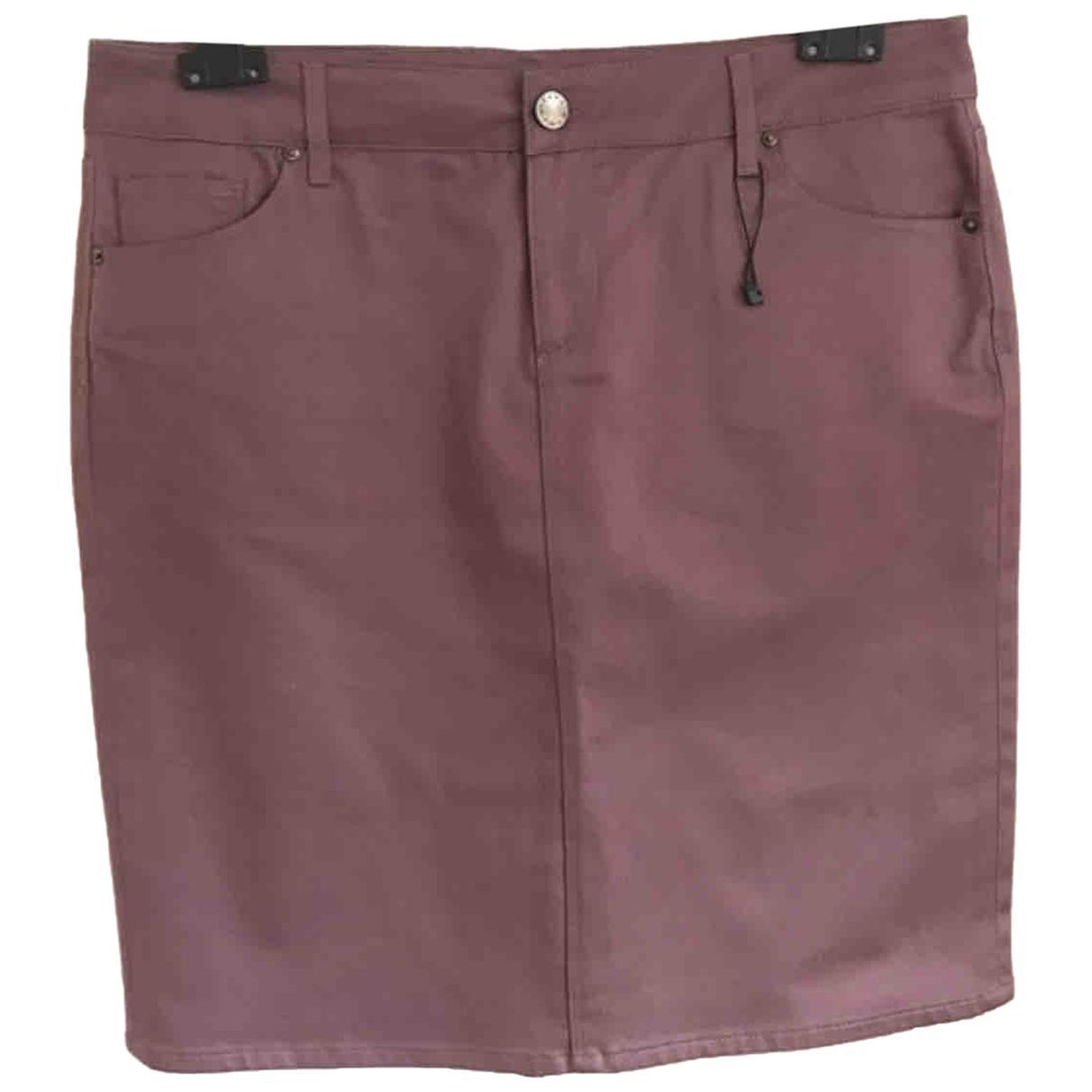 Zara - Jupe   pour femme en coton - elasthane - violet