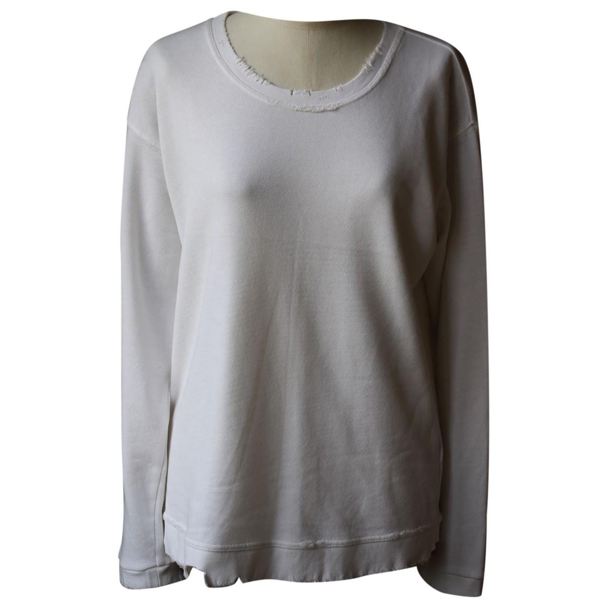 Rta - Pull   pour femme en coton - blanc
