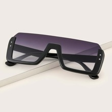 Acrylic Frame Flat Top Sunglasses