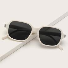 White Square Frame Sunglasses