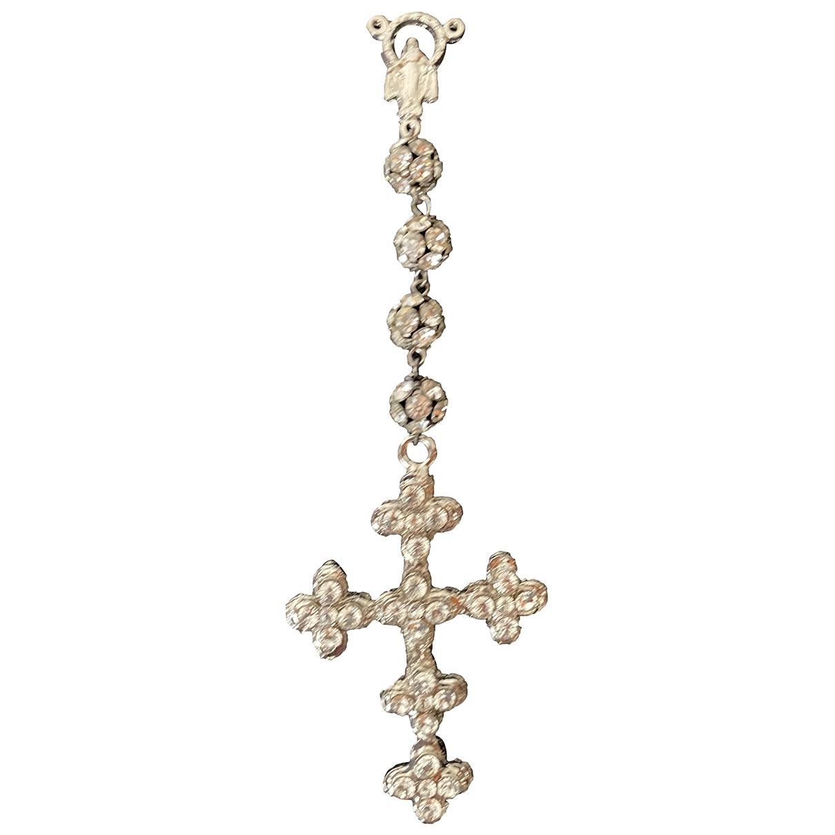 Dolce & Gabbana - Pendentif   pour femme en metal - gris