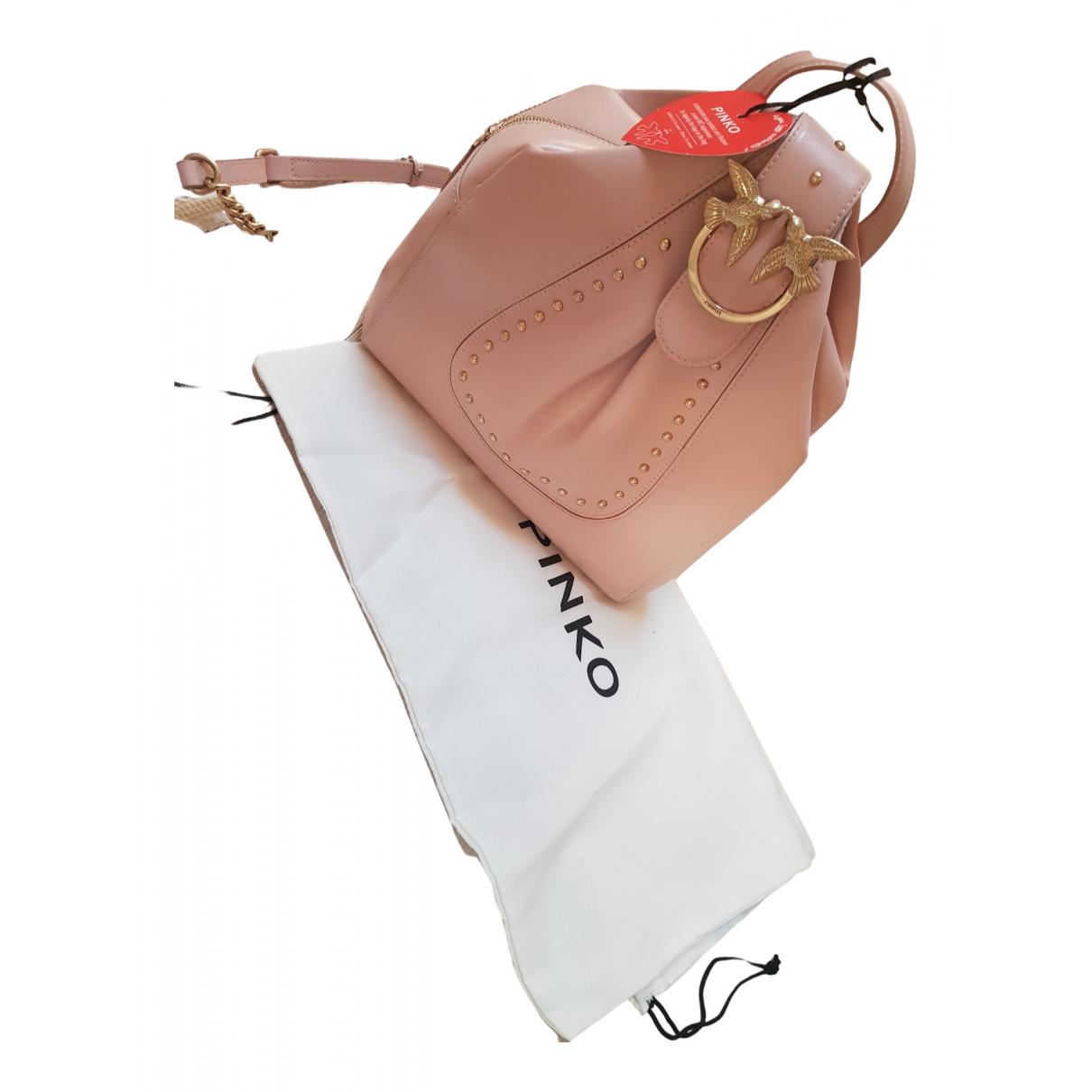 Pinko Love Bag Rucksaecke in  Rosa Leder