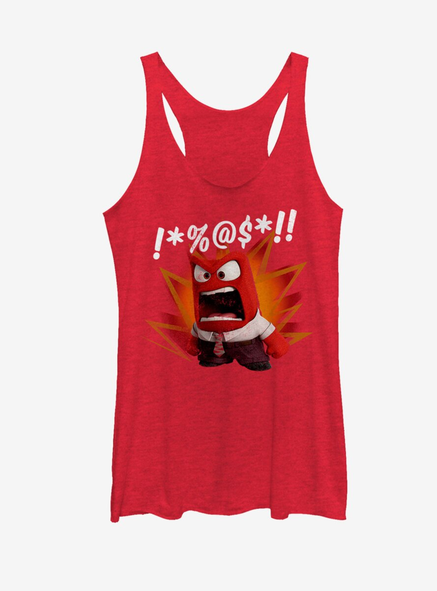 Disney Pixar Inside Out Anger Womens Tank