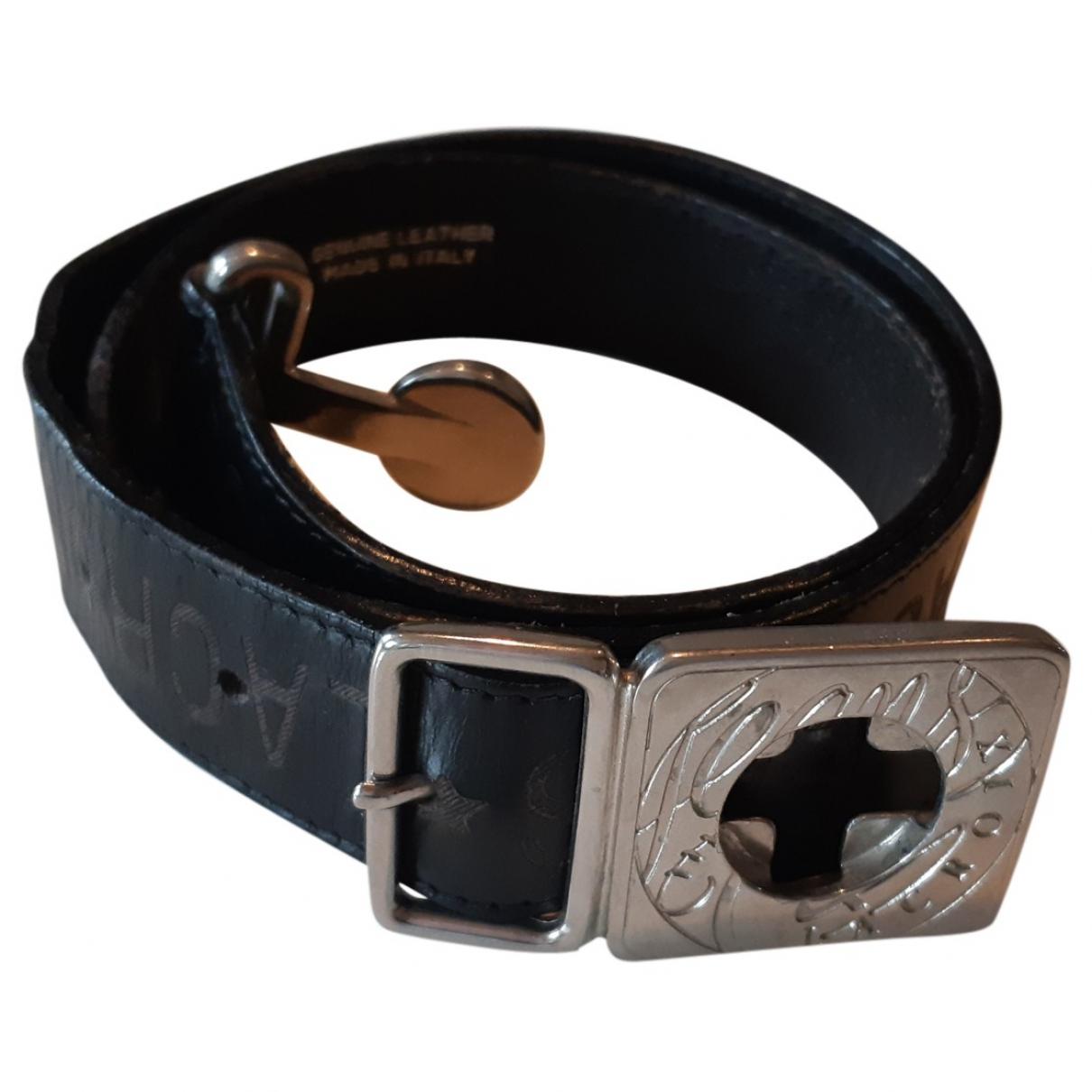 Christian Lacroix \N Black Leather belt for Women 70 cm