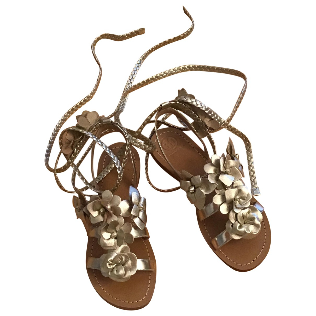 Tory Burch \N Gold Leather Sandals for Women 37.5 EU
