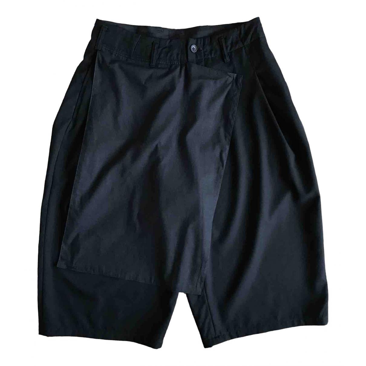 Yohji Yamamoto \N Shorts in  Schwarz Baumwolle