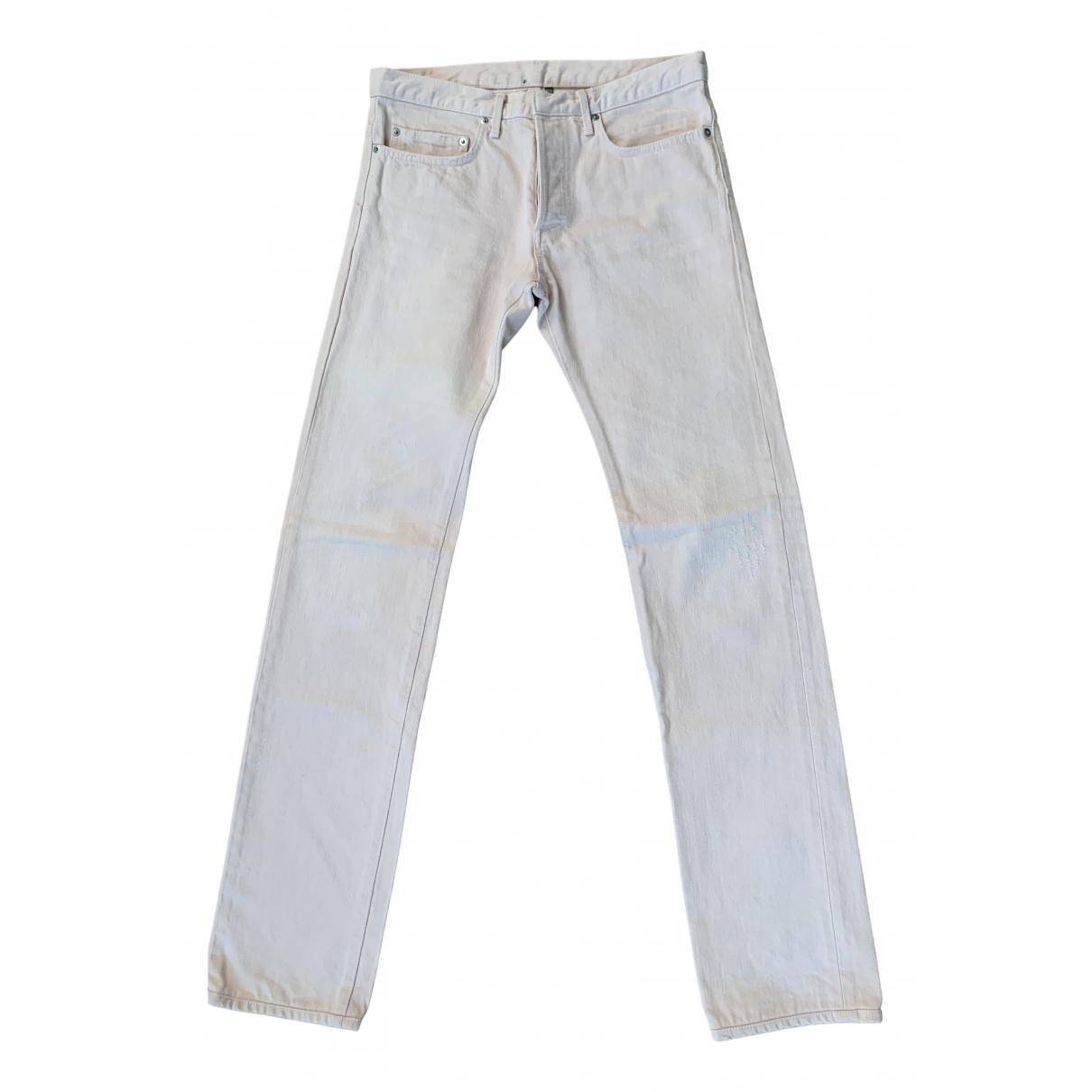 Dior Homme \N Pink Cotton Jeans for Men 30 US