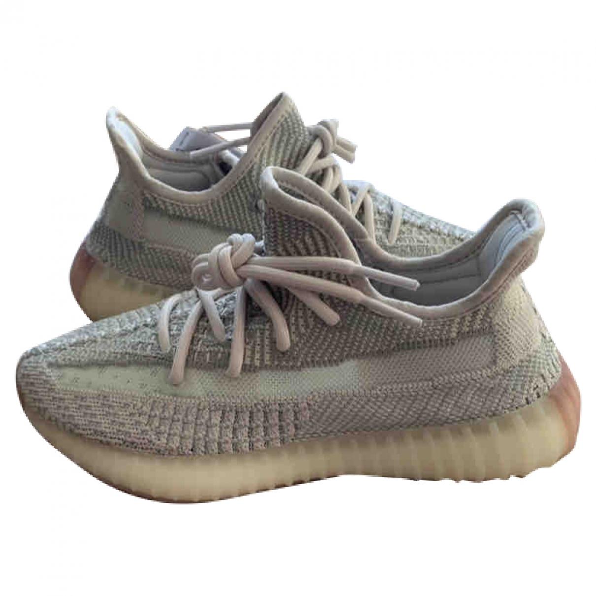 Yeezy X Adidas - Baskets Boost 350 V2 pour femme en toile - beige
