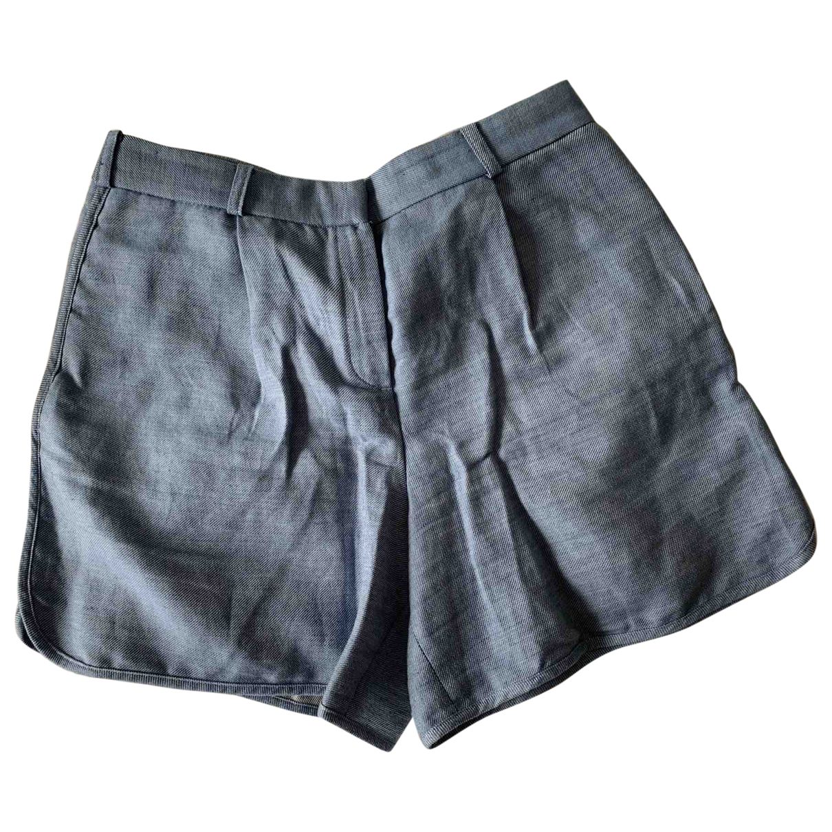 Massimo Dutti \N Shorts in  Blau Leinen