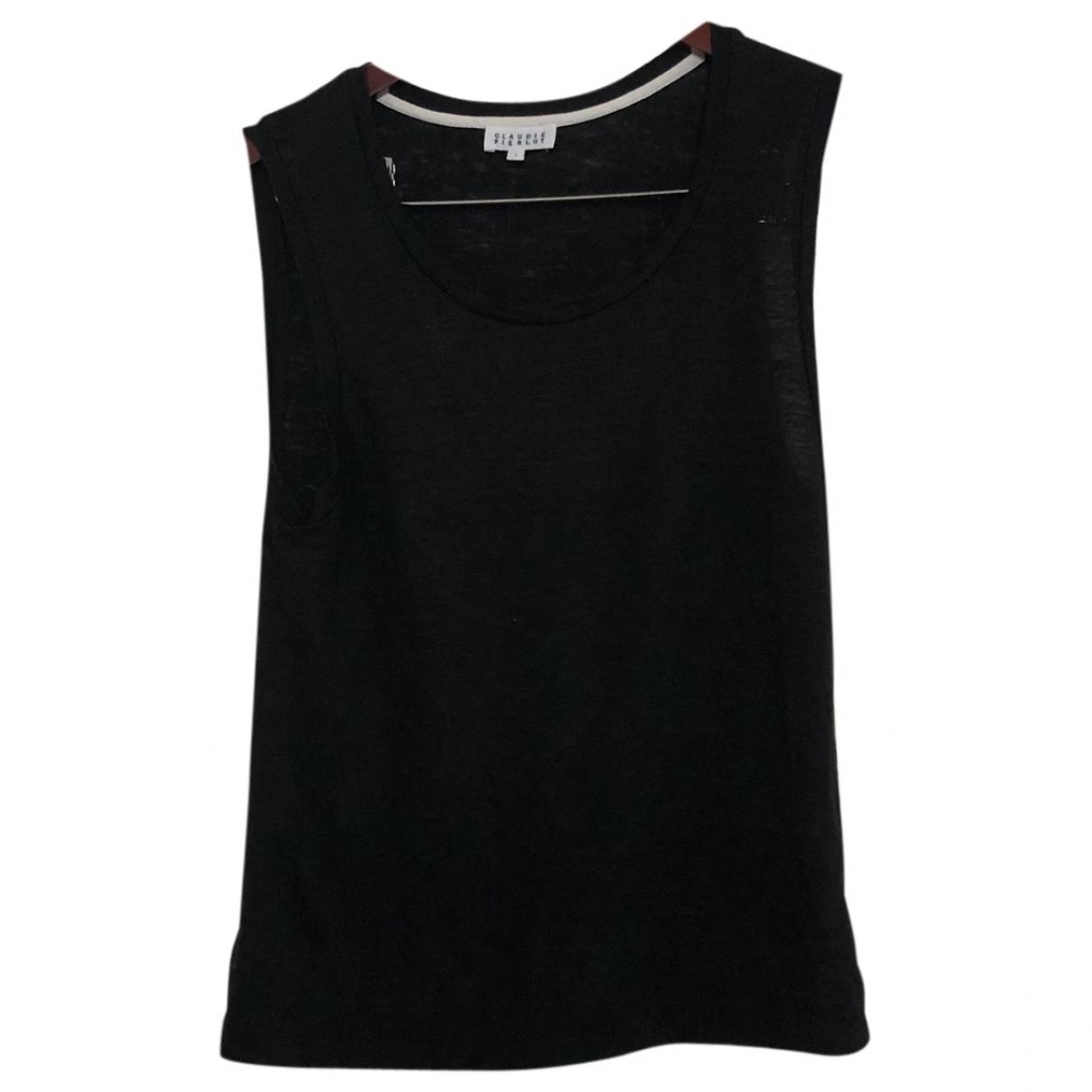 Claudie Pierlot - Top   pour femme en lin - noir