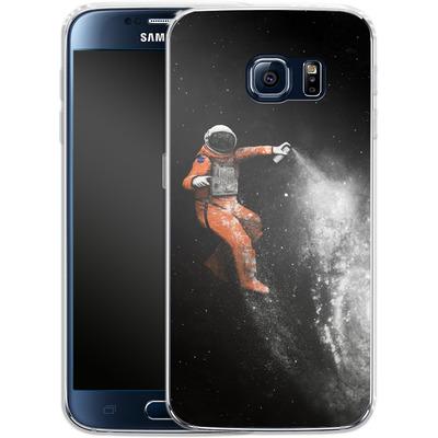 Samsung Galaxy S6 Silikon Handyhuelle - Space Astronaut von Florent Bodart