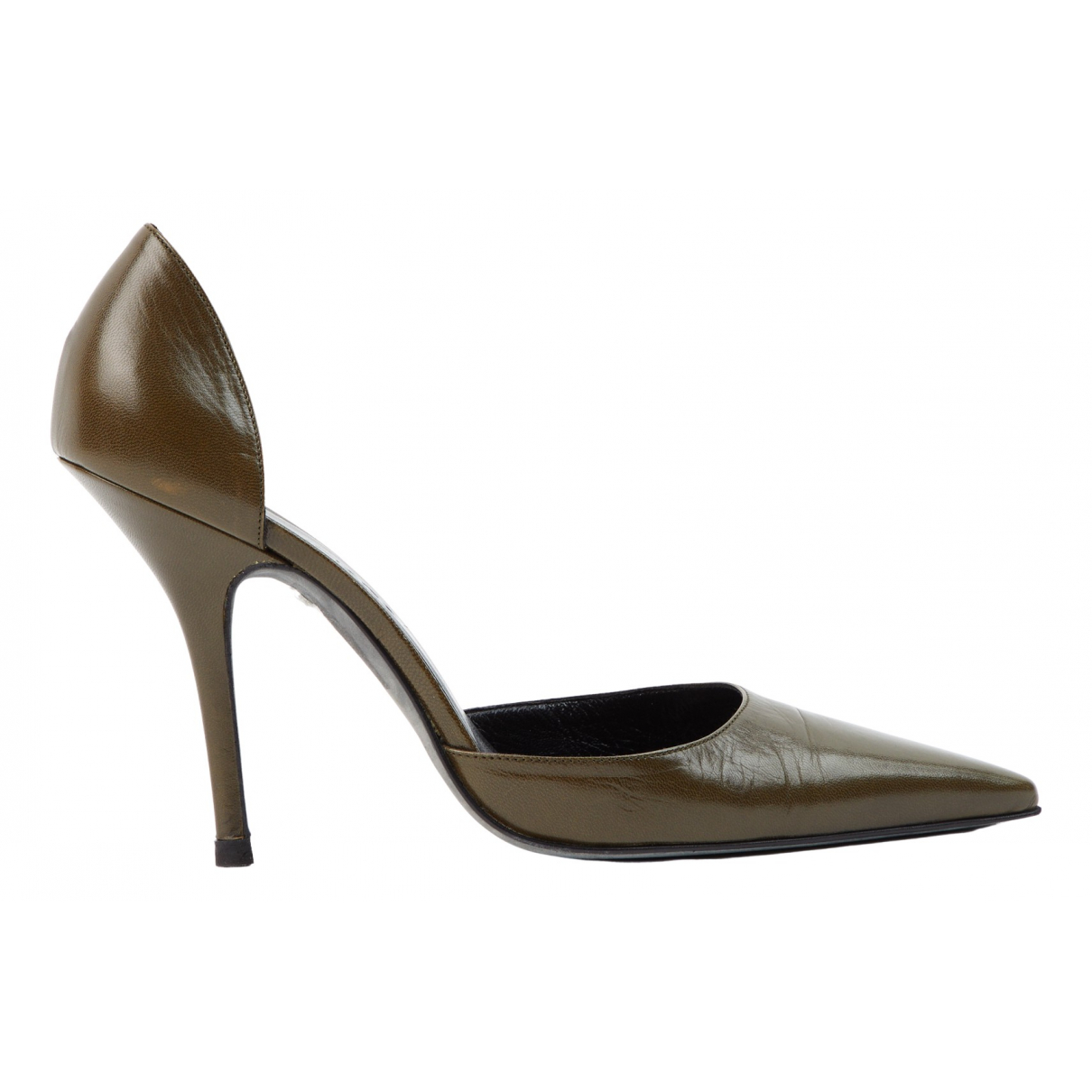 Balenciaga \N Pumps in  Khaki Leder
