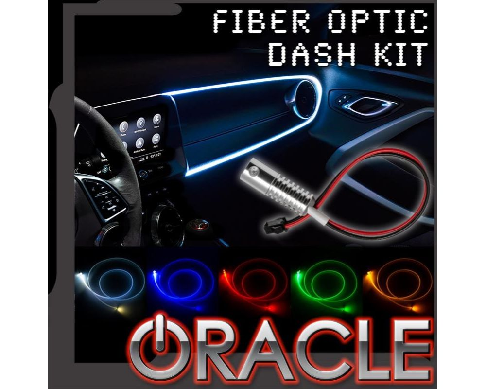 Oracle Lighting 4230-001 White LED Fiber Optic Dash Kit - Universal