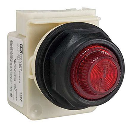 Square D , Harmony 9001SK, Panel Mount Red Indicator, 30mm Cutout, 220 → 240 V ac